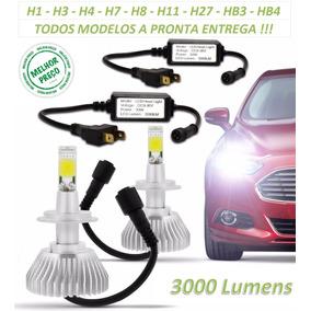 Kit Xenon Lampada Super Led H7 6000k Branca H1 H4 H3 H11 Hb3