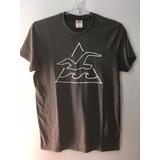 Camiseta Tshirt Hollister California Surf Masculina P Cinza