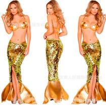 Disfraz Dama Sirena Sexy Fiestas Halloween Table Dance Pole