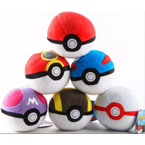 Pokebola Peluche O Plastico Pokemon Pokeball 8 Cm Pokemon