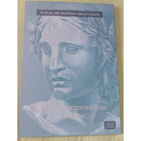 Álbum De Moedas Brasileiras - Real Comemorativas Completo