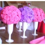 Toparios De Flores De Papel Crepe
