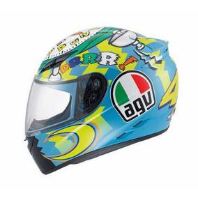 Capacete Agv Moto Azul Valentino Rossi 46 Moto Gp