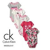 Set De 5 Bodys Calvin Klein Original P/niñas De 0-3 Meses