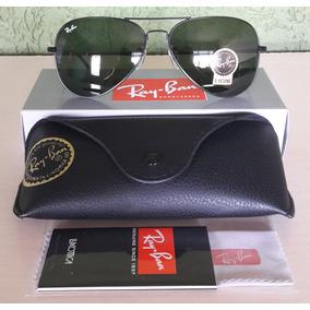 9c3f5ac18255d Ray Ban Aviator Rb3024 Grafite Lente Verde G15 - Óculos De Sol Ray ...