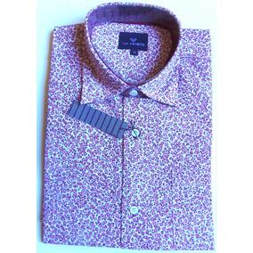 Camisas Via Veneto Hombre Estampada Estampado De Moda T 38