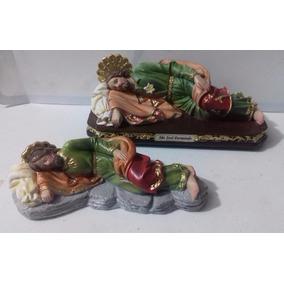 Dois Modelos Escultura São José Dormindo Imagem 20cm
