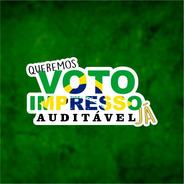 Kit 10 Adesivo Vinil 3m Voto Impresso Auditável Já Campanha