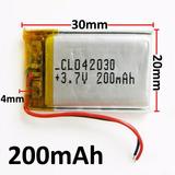 Bateria Lipo 402030 3.7v 200 Mah - Relógio Pulso Spy
