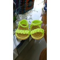 Sandalias Tejidas Para Bebé Tejidas A Crochet