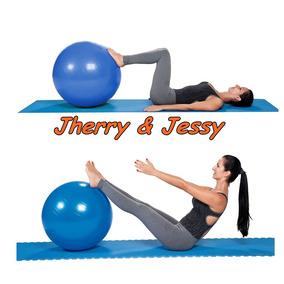 Bola Suiça 75cm + Inflador Yoga Pilates Ginástica Exercícios