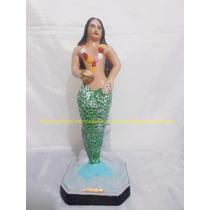Escultura Sereia Do Mar Imagem 40cm Estatua Especial Umbanda