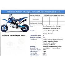 Mini Moto 49cc Nueva Con Garantia Tipo Mini Cross 2 Tiempos