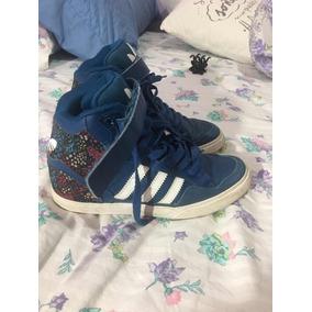 7678b07136531 Zapatillas Adidas Con Taco Chino - Ropa y Accesorios Azul en Mercado ...