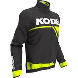 Capa De Chuva Bike Kode Active Preto E Amarelo Fluorescente