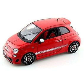2008 Fiat 500 Abarth, Rojo - Bburago Escala 1/18 Coche Mod