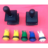 Palancas (joystick) Y Botones Videos-juegos Arcade