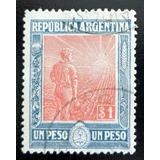 Argentina, Sello Gj 359 Labrador 1p Hex Horiz Usado L8242