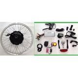Kit Conversão Bike Elétrica 1000w 48v Tras. Lcd Wind Bikes