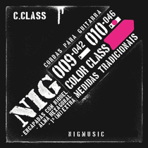 N1645 Jogo De Cordas P Guitarra 010 046 Nig Color Class Rosa