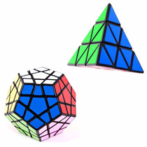 Kit Cubo Mágico Pyraminx + Megaminx Shengshou