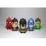 Pendrive Super Heroes 4gb, Superman,spiderman,batman