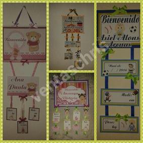 Carteles Letreros De Bienvenida Puerta Declínica Baby Shower