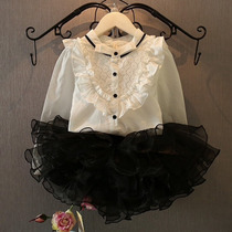 Conjunto Infantil Menina Festa Camisa E Micro Saia Frufru