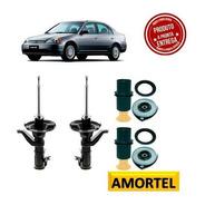 Par Amortecedores Dianteiros + Kits Honda Civic 2003 A 2005