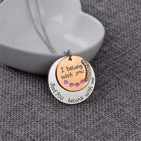 Collar Dije Mensaje To The Moon And Back Novios Regalo
