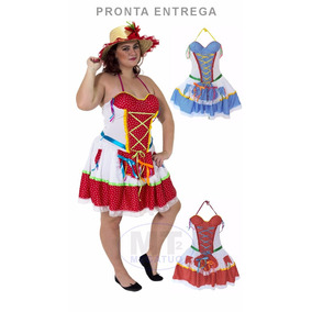Vestido Junino Festa Caipira Adulto Lindinha Festa Junina