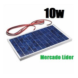 Painel Placa Célula Energia Solar Fotovoltaica 12v 10w Watts