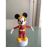 Mickey Aventura Sobre Ruedas En Porcelana Fría Souvenir