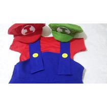 Fantasia Super Mario Bros Ou Luigi Adulto! Pronta Entrega!