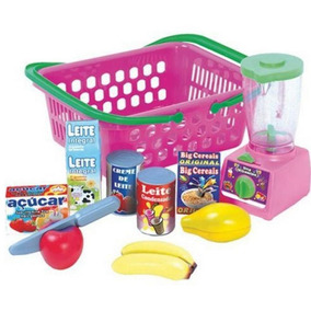 Comidinha Brinquedo Infantil Frutas Cesta Crec Crec Vitamina