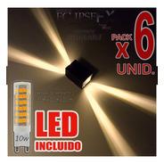 Aplique Difusor Exterior Efecto Fx Led Incluido 10w Pack X6