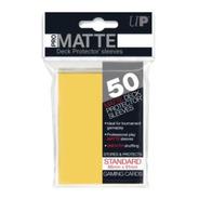 Ultra Pro Matte Sleeves Standard - 50 Unidades - Amarelo