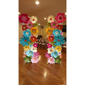 10 Flores Gigantes De Papel