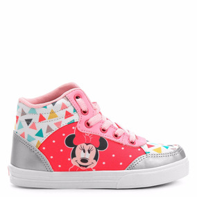 Tênis Infantil Cano Alto Disney Minnie Feminina