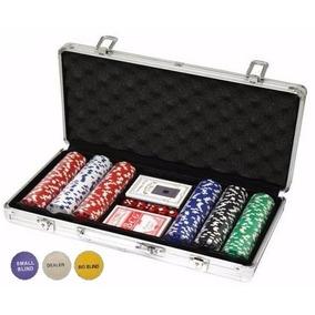 Maleta De Poker 300 Fichas 11,5g Dealer Baralho Dados Toalha