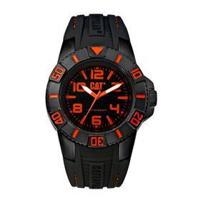 Reloj Cat Hombre Bondi Negro Aguj/naranja Fte.ld 111.21.124