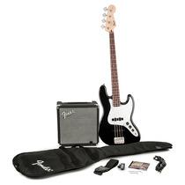 Contra Baixo Fender Jazz Bass Squier Affinity + Amplificador