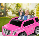 Escalade Barbie Power Wheels Rosa Fgf73 Msi