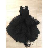 Vestido Niña Flamenco Talla 8-10 Color Negro