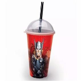 Copo Do Thor Com Canudo 500ml - Vingadores