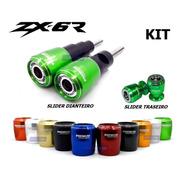 Kit Premium Slider Dianteiro Traseiro Kawasaki Zx6r 636 Zx6