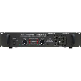 Ciclotron W Power Ii 2200 Amplificador Potencia Profis. 550w