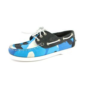 Zapatos Nauticos Mocasines Peskdores Blue Camo Bc00032