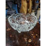Frutero Antiguo En Cristal Tallado Pequeño Italiano