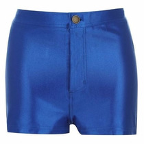 Shorts Bermuda Disco Hot Pants Cintura Alta Suplex Fitness
